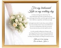 Matron Of Honor Poem Bridesmaid Thank You Poem Thank You For Being My Bridesmaid