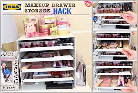 makeup organizer ikea cheap ikea makeup drawer storage hack