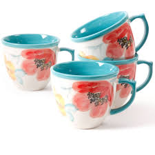 the pioneer women flea market 16 oz decorated coffee cup floral