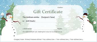 holiday gift certificate template free imts2010 info