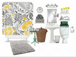 yellow and grey bathroom decorating ideas the lovely side be still my clawfoot bathtubs gray and