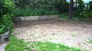 shoveling a lot of dirt diy backyard landscaping progress youtube
