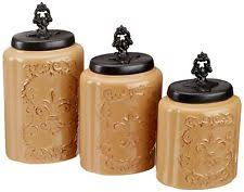 pottery kitchen canisters ceramic kitchen canister sets ebay