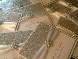 glitter wedding invitations gold glitter wedding invitations with pearl brooch