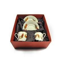 coffee gift sets turkish coffee cup set for 2 with tulips in a gift box