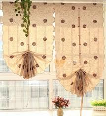 materiel cuisine japonais style japonais coton matériel pull up ballon rideau marguerite