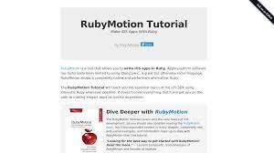 tutorial web c rubymotion tutorial