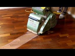 sanding and refinishing hardwood floors
