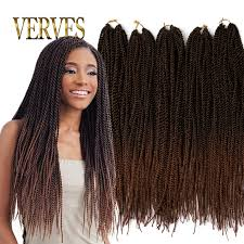 Black To Brown Ombre Hair Extensions by Ombre Crochet Braid Hair 20inch 70grams Pcs Small Senegalese Twist