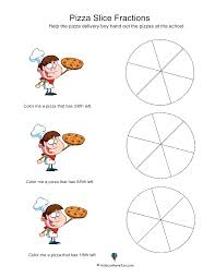 pizza slice fractions worksheet amazing resource for worksheets