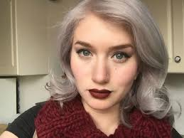 salt and pepper hair with lilac tips which pretty pastel color should i dye over my gray hair