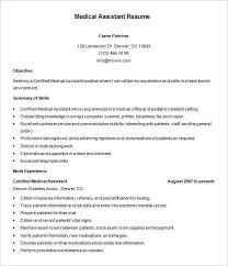 Obiee Admin Resume Medical Assistant Skills Resume Certified Medical Assistant