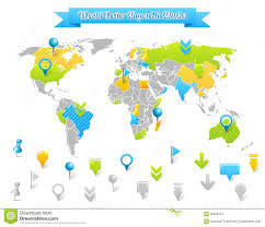 vector map vector map with marks royalty free stock photography image