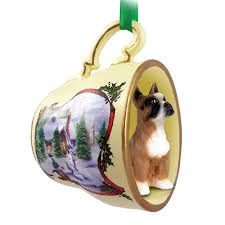 boxer ornament figurine teacup