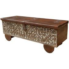 mango wood coffee table with storage unbelievable hand carved mango wood storage trunk coffee table pics