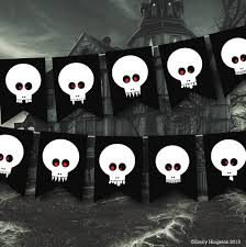 walking dead party supplies skulls banner party decor pirate party banner