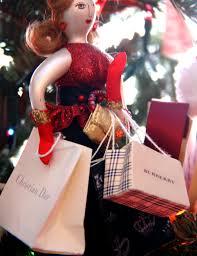 dior and burberry shopper christmas ornament 2014 christmas