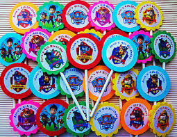 paw patrol birthday stickers collection ebay