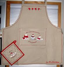 couture tablier de cuisine tabliers maniques le dé filé