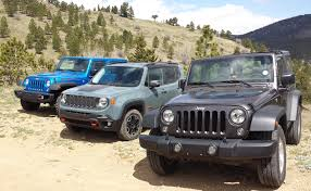 jeep trailhawk blue jeep renegade trailhawk versus wranglers which one is just right