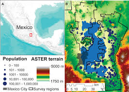 Show Me A Map Of Mexico by Settlement Scaling And Increasing Returns In An Ancient Society