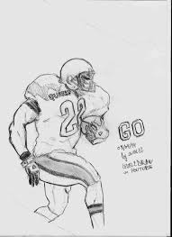 how do you draw a football player pencil art drawing