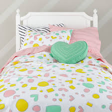 Yellow Patterned Duvet Cover Kids Duvet Covers The Land Of Nod