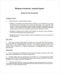 11 sample hr report templates free u0026 premium templates