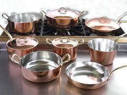 batterie de cuisine en cuivre a vendre batterie de cuisine en cuivre casserole sacrie 5 casseroles cuivre