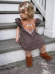 fox print polka dot dress baby toddler dress supayana brown
