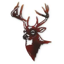 deer home decor deer metal wall art proudly display your passion for wildlife