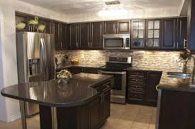 Kitchen Paint Ideas With Brown Cabinets Wall Paint Color For Dark Kitchen Cabinets Everdayentropy Com