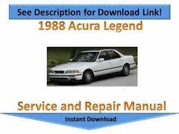 1988 acura legend repair manual youtube