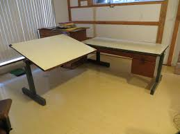 Drafting Table Calgary Two Piece Drafting Table With Desk L Shaped Saanich Victoria