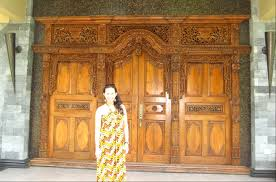 furniture u0026 accessories javanese wooden front door crown