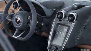 mclaren supercar interior 2018 mclaren 570s spider color vega blue interior detail