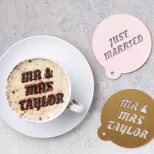 Creative Wedding Presents Personalised Wedding Coffee Stencil By Sophia Victoria Joy