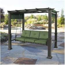 Swing Arbor Plans 5 Ft Patio Swing With Cedar Pergola Create The Perfect Place To