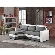 canape blanc et gris bestmobilier portland canapé d angle réversible convertible