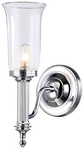 Bathroom Wall Lights Traditional Excellent Classic Chrome Bathroom Wall Light With Opal Glass Bell