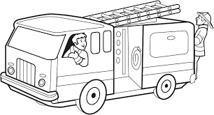 fire truck outline coloring pages funny coloring