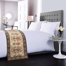 buy twin indian peafowl bed runner online india circus