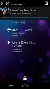 want see currently playing audio track in dashclock check