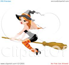 halloween animations clip arts witch broom clipart
