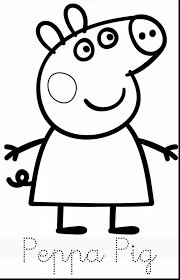 excellent color peppa pig coloring pages with peppa pig coloring