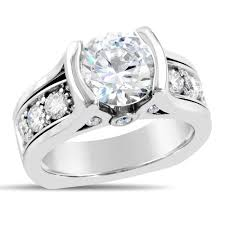 wide band engagement rings dear heart michael diamond designs