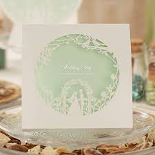 mint wedding invitations mint green laser cut wedding invitation kit ewws010 as low