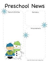 11 best photos of kindergarten blank newsletter blank preschool