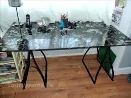 verre pour bureau plateau bureau en verre bureau informatique verre plateau en verre