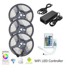 led strip lights wifi controller waterproof rgb led strip light smd 2835 5m 10m 15m led light tape